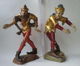 Holz Figuren Geschnitzt Und Bemalt,  Tänzer 2 Stück Bild