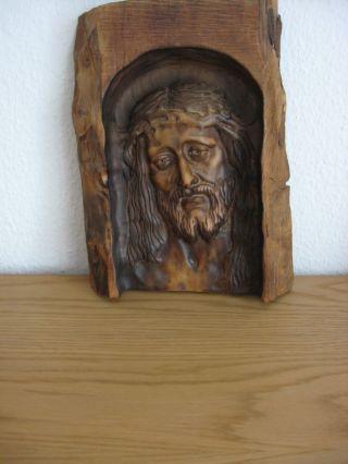 Holzschnitzerei Relief Schnitzerei Wandbild Jesus Holzarbeit Bild Holzbild Bild