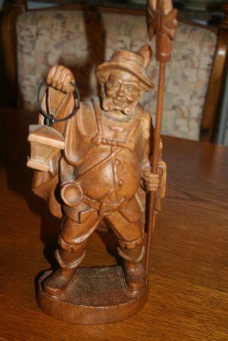 Nachtwächter Holz Figur Handgeschnitzt Bild