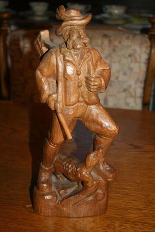 Jäger Figur Holz Handgeschnitzt Bild