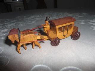 Pferde Kutsche Wunderschön Holz Arbeit Weihnachten