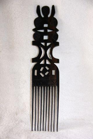 Afrika Kamm - Deko - Nigeria Aus Holz - Handarbeit - - Ansehen Bild