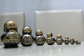 9 Teilige Matroschka (babuschka) Russisch Matrioschka Holzpuppe Handarbeit Bild