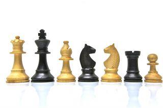 Schachfiguren,  2 X 16 Figuren Aus Holz,  Im Aufbewahrungskasten. Bild