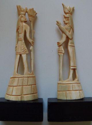 2 Alte Figuren Aus Bein Von 15,  5cm. Bild