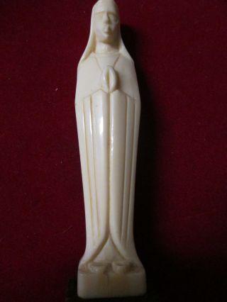 Traumhaft Schöne Madonna Aus Bein,  Auf Kleinem Holzsockel,  Art - Deco,  Top Bild