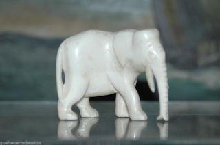 Alte Beinschnitzerei Asiatischer Elefant 6cm Bein Schnitzerei 5 Bild