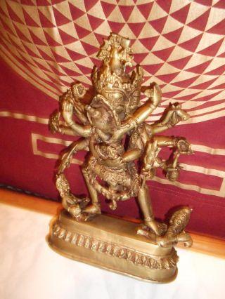 Buddha Bronze Yab Yum Ca 25cm Ca 2kg 8armige Gottheit Von Sammler Selten Bild