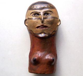 Keramik - Büste Der Jivaro Pottery - Bust Shuar Ecuador South America Bild