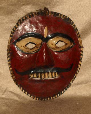 Maske Schutzgottheit Metall Schamane Buddha Indien Tibet Himalaya Antik Bild