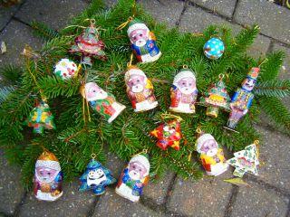 16x Schöner Weihnachtsbaumschmuck Aus China Cloisonne Bild