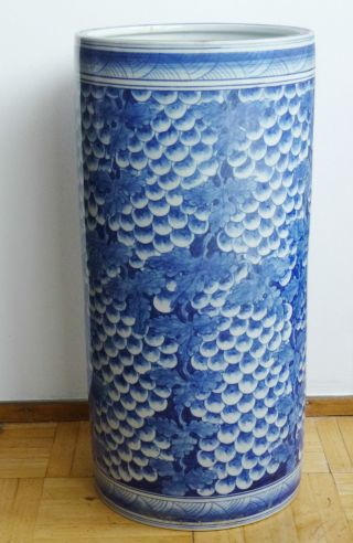 China Große Porzellan Vase Chinese Large Porcelain Vase Blue White 19th / 20th Bild