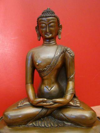 Anmutiger Amitayus - Sitzender Bronze Buddha Bild