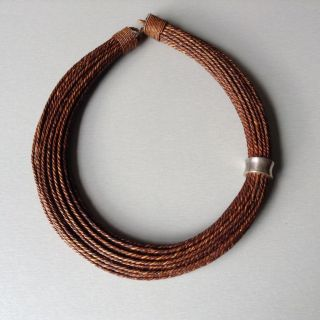 Seltene Halskette,  Geflochtenes Gras Mit Silber,  Indonesien,  Aus Privatsammlung Bild
