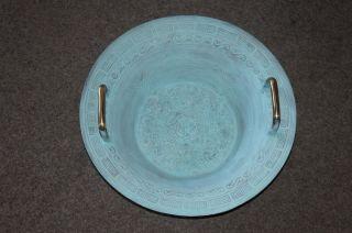 Wasserspringschale Wasserklangschale Mit Patina Handgefertigt Water Spring Bowl Bild