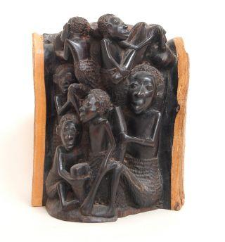 Afrikanische Skulptur - Lebensbaum - Ebenholz - Klein Bild