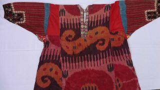 Antikes Seidenkleid - Ikat,  Stickerei - Vor 1900 - Usbekistan - Alte Sammlung Bild