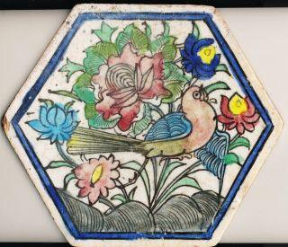 Alte Fliese Kachel Keramik Orient Persien Handfertigung Handbemalung Bild