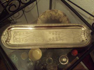 Silbernes Tablet Ornamente Um 1900 Jigendstil Produktionmuster Bild