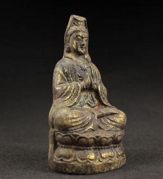 Sammeln Alte Kwan - Yin Skulpturen Signiert,  Bronze,  China Selten Bild
