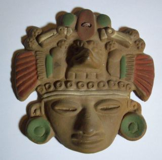 Mexiko Maya Inka Maske Zum Aufhängen 15cm Mexico Südamerika Bild