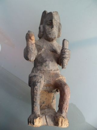 Ikenga Holz Figur Igbo Nigeria Bild