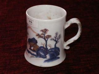 Alte Porzellan Tasse,  Krug,  China,  Blau,  Handarbeit,  18.  Jhd Bild