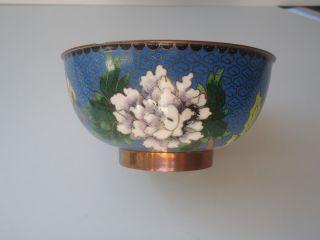 Chinesische Emaille Schale - Sehr Schönes Blumenmotiv Bild