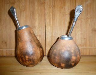 2 Stück Afrikanische Gebrauchsgefäße Aus Holz Bild