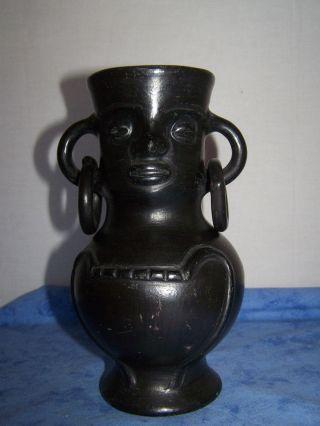 Steinfigur Indio - Götterfigur Mexiko Maya Azteken,  Vase Mit Henkel?rarität Bild