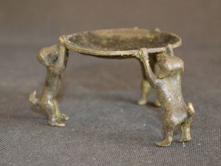 Chinesische Antiquitäten Weinlese Großartige Bronze 3 Hund - Kerzenhalter - Statue Bild