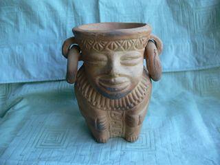 Maya Azteken Inka - Vase Planztopf? Tongefäß Alt,  Rar,  Ansehen Bild