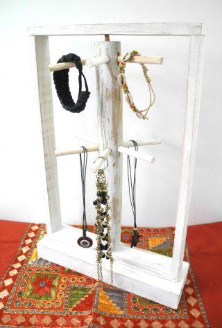 Kettenhalter Armband Armreif Schmuckhalter Schmuckständer Display Weiß 48cm Bild