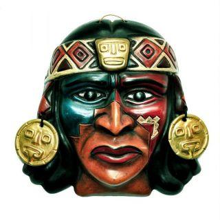Inka - Shop Peru: Keramik Maske Inca,  Wand - Schmuck Bild