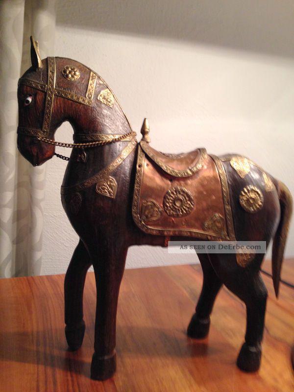 reiseandenken aus indien holz pferd mit intarsien handarbeit. Black Bedroom Furniture Sets. Home Design Ideas