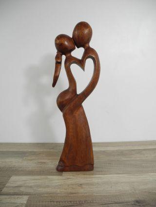 Liebespaar Figur Skulptur Standfigur Deko Abstrakt Mangoholz Asien 49cm Bild