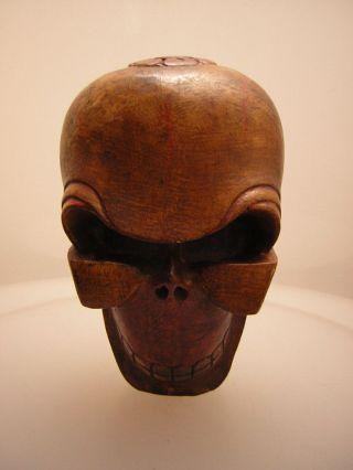 Totenkopf Aus Nepal (wooden Skull Head 1) Bild