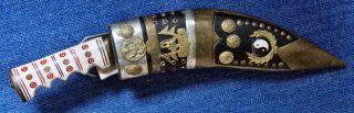 Messer Kukri Aus Nepal Mit Lederhülle Und 2 Beimessern Bild