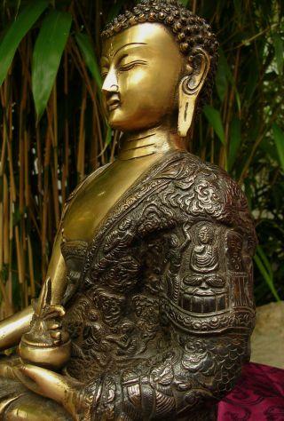 Medizin Buddha Statue Feuervergoldet,  Buddhas Life,  Aus Tibet 6,  0 Kilo Bild