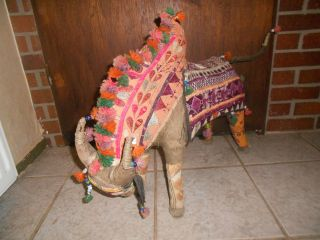 Kuh Stier Deko Skulptur Hand Woven Indien Bild