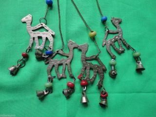 Altes Windspiel Kamele Glocken Perlen Messing Usbekistan Mobile Orient Islam Bild