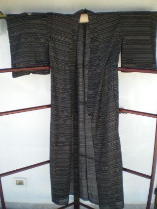 - Aus Japan: Vintage Kimono Mit Elegantem Wellenmuster - Wie Bild