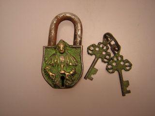 Vorhängeschloss Aus Tibet (metal Padlock) Bild