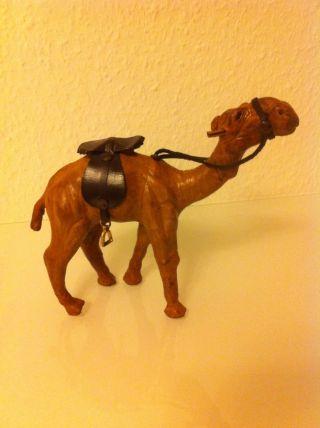 Leder Krippenfigur Krippenspiel Kamel Camel Mit Sattel Weihnachten Deko Bild
