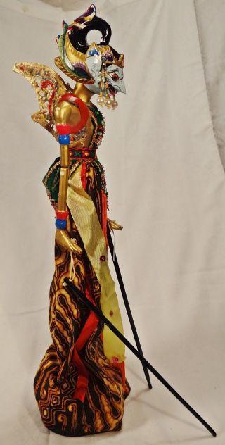 Traditionelle Wayang Golek Indonesische Stabpuppe Puppenspiel Alt Unbespielt Bild