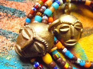 Neue Afrikanische Bronze - Anhänger - Masken - Ashanti - Ca.  20x25mm Bild