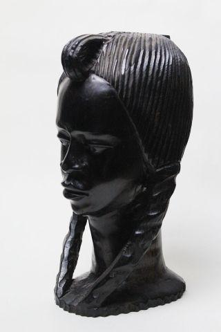 Antike Alte Afrika Büste Frau - Tropen Edel Teak Holz 3000 G | Nordantike Bild