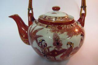 Alte Japanische Porzellan Teekanne Sammelstücke Handbemalt Gedeck Japan Bild