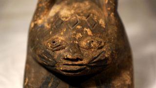 Gelende Old Mask Africa / Alte Maske Afrika Gelende Bild