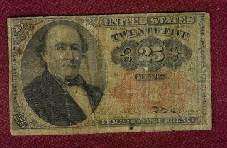Nordamerika,  Usa,  Us 25 Cent Geldschein Von 1874 (9 X 5,  4 Cm) Bild
